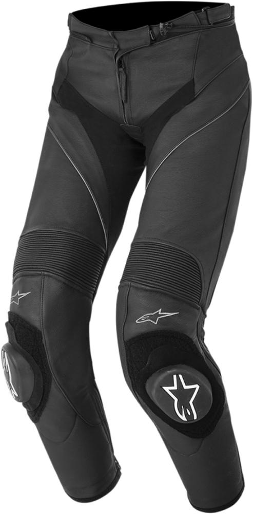 Alpinestars Stella MISSILE Leather Motorcycle Pants (Black)