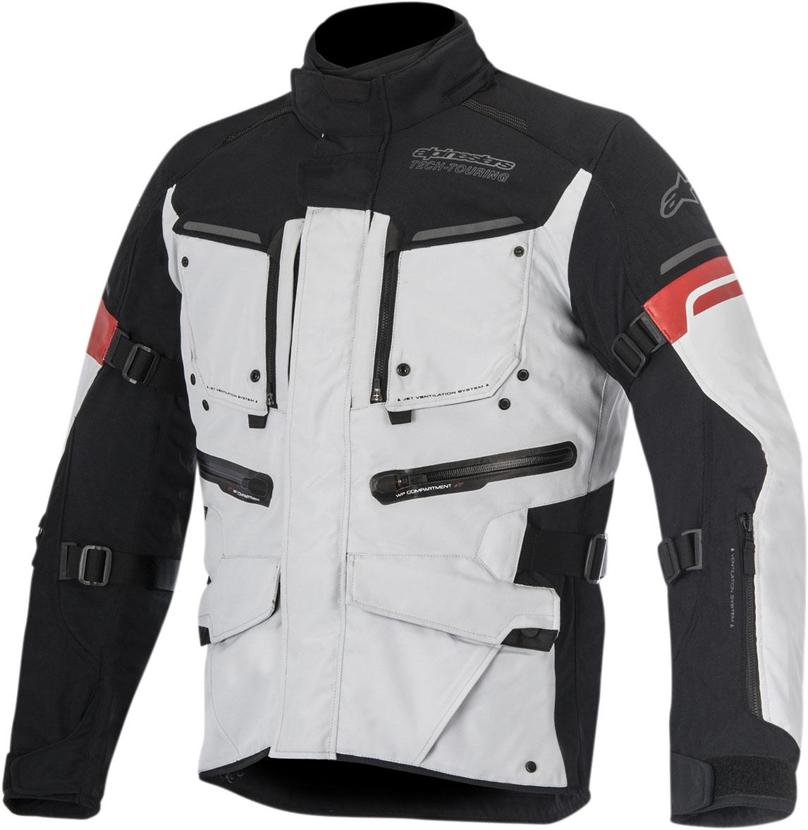 Alpinestars VALPARAISO 2 Drystar Adventure Touring Jacket (Light Gray/Black)
