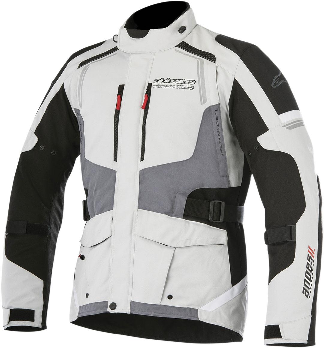 Alpinestars ANDES V2 Drystar Adventure Touring Motorcycle Jacket (Grey/Black)