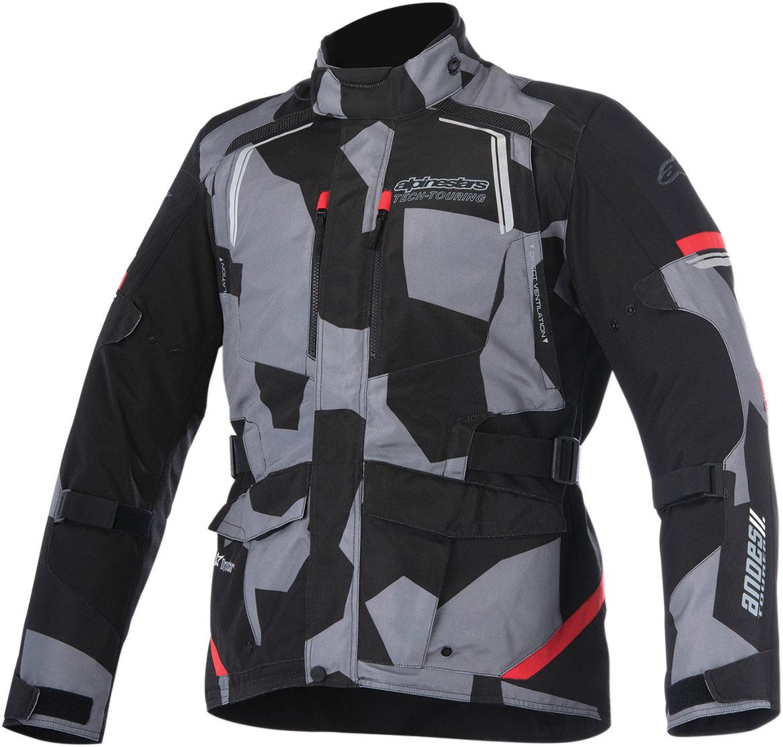 Alpinestars ANDES V2 Drystar Adventure Touring Motorcycle Jacket (Black/Camo/Red)