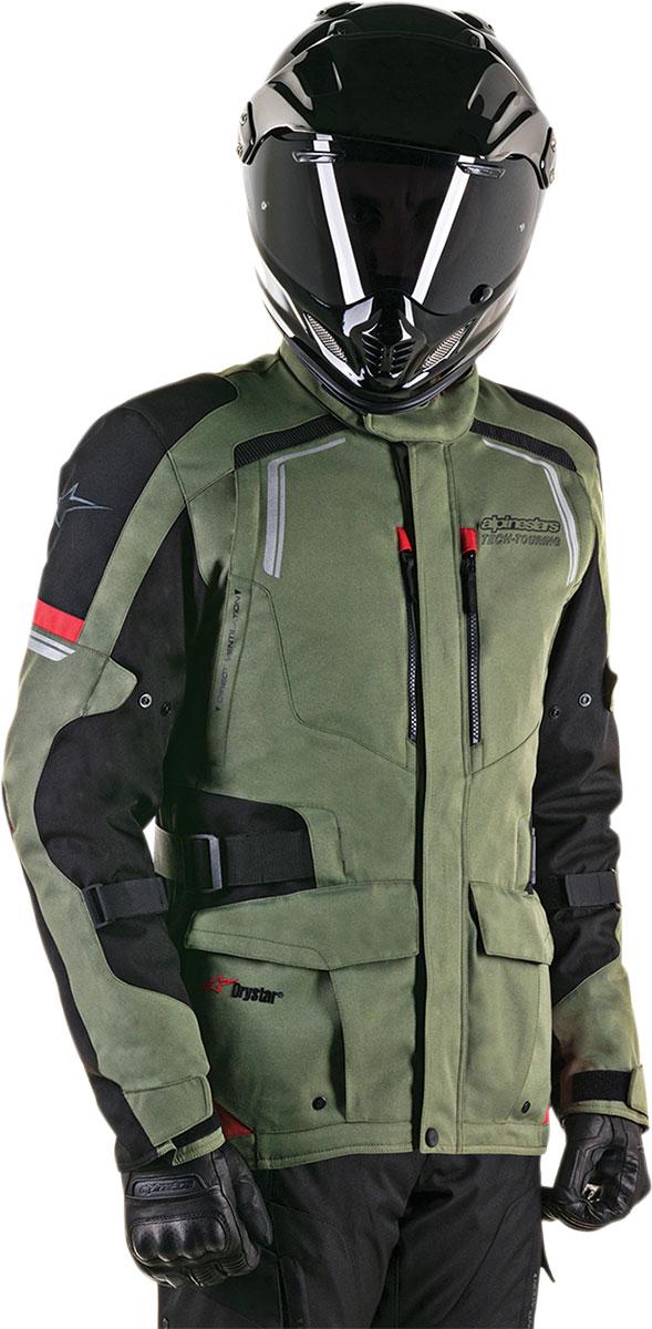 Alpinestars ANDES V2 Drystar Adventure Touring Motorcycle Jacket (Green/Black/Red)