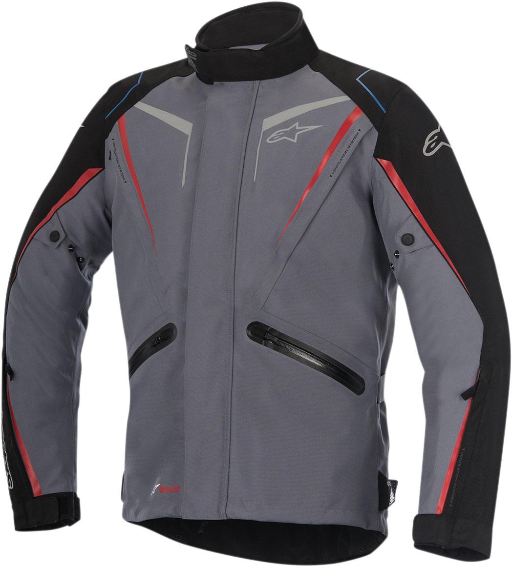 Alpinestars YOKOHAMA Drystar Adventure-Touring Jacket (Gray/Black/Red)