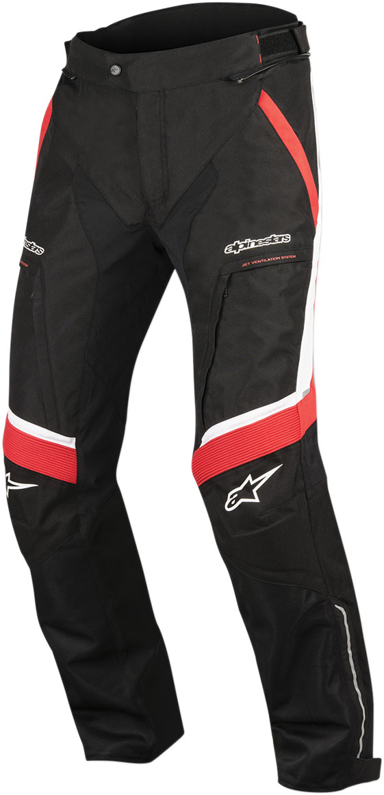 Alpinestars RAMJET Air Textile/Mesh Pants (Black/Red/White)