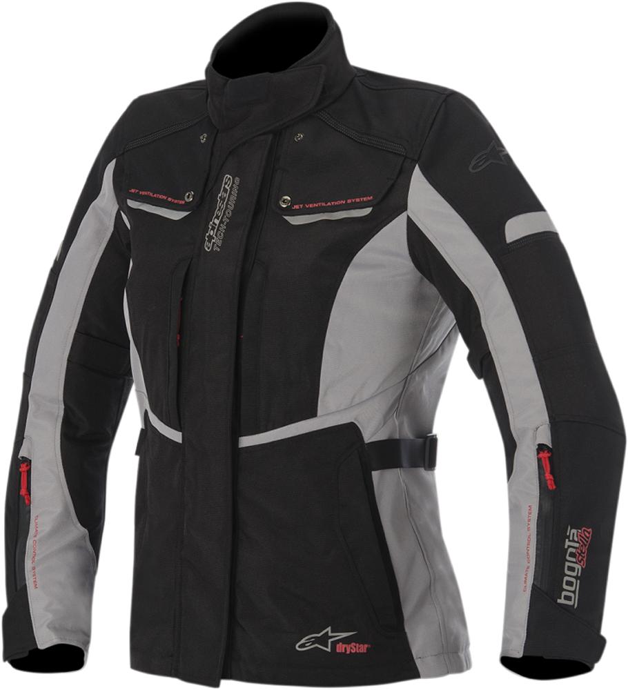 Alpinestars Stella BOGOTA Drystar Motorcycle Jacket (Black/Gray)