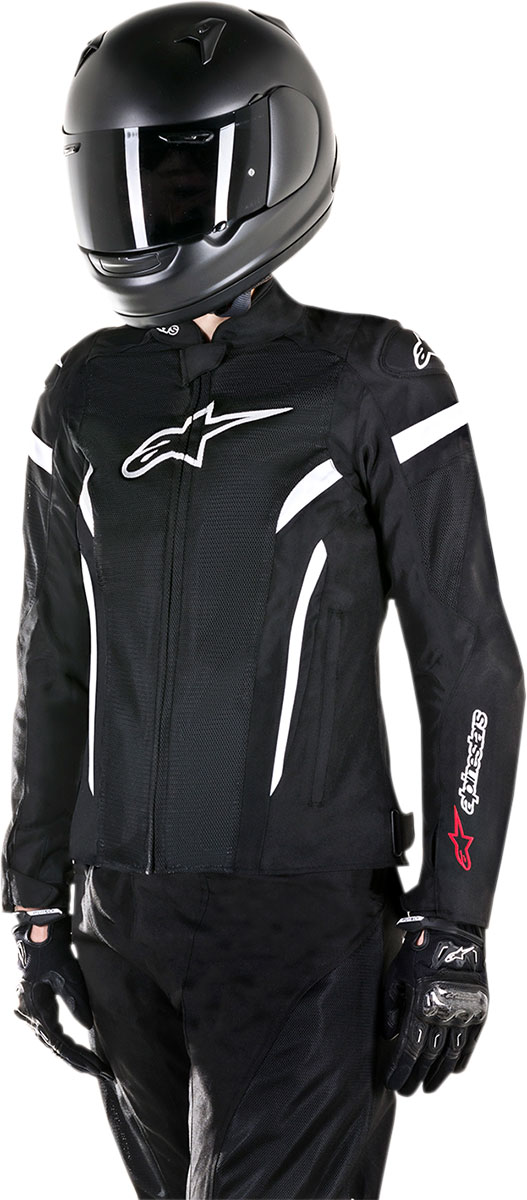 Alpinestars Stella T-GP Plus R V2 Air Textile/Mesh Jacket (Black White)
