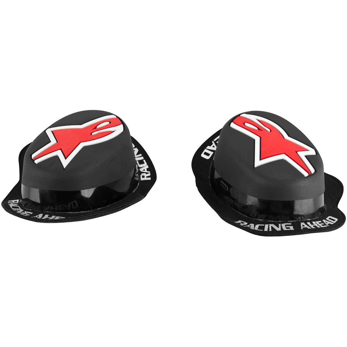 Alpinestars Replacement GP Rain Knee Sliders (Black/Red)