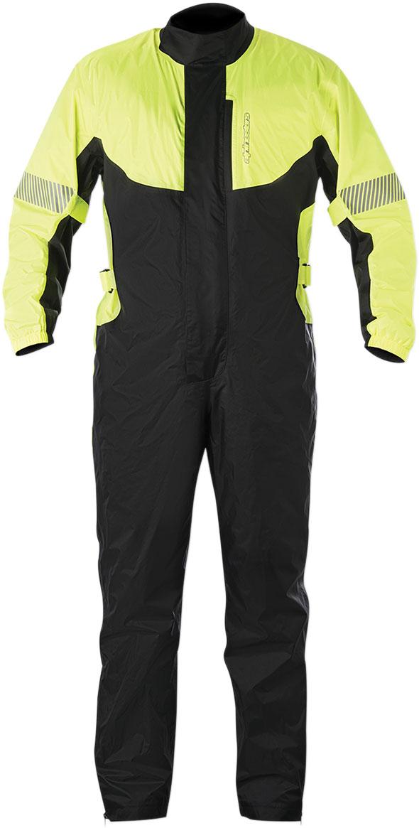 Alpinestars HURRICANE 1-Piece Waterproof Motorcycle Rain Suit (Flo Yellow/Black)