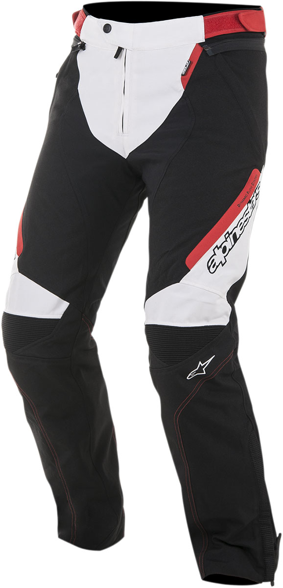 Alpinestars RAIDER Drystar Textile All-Weather Touring Pants (Black/White/Red)