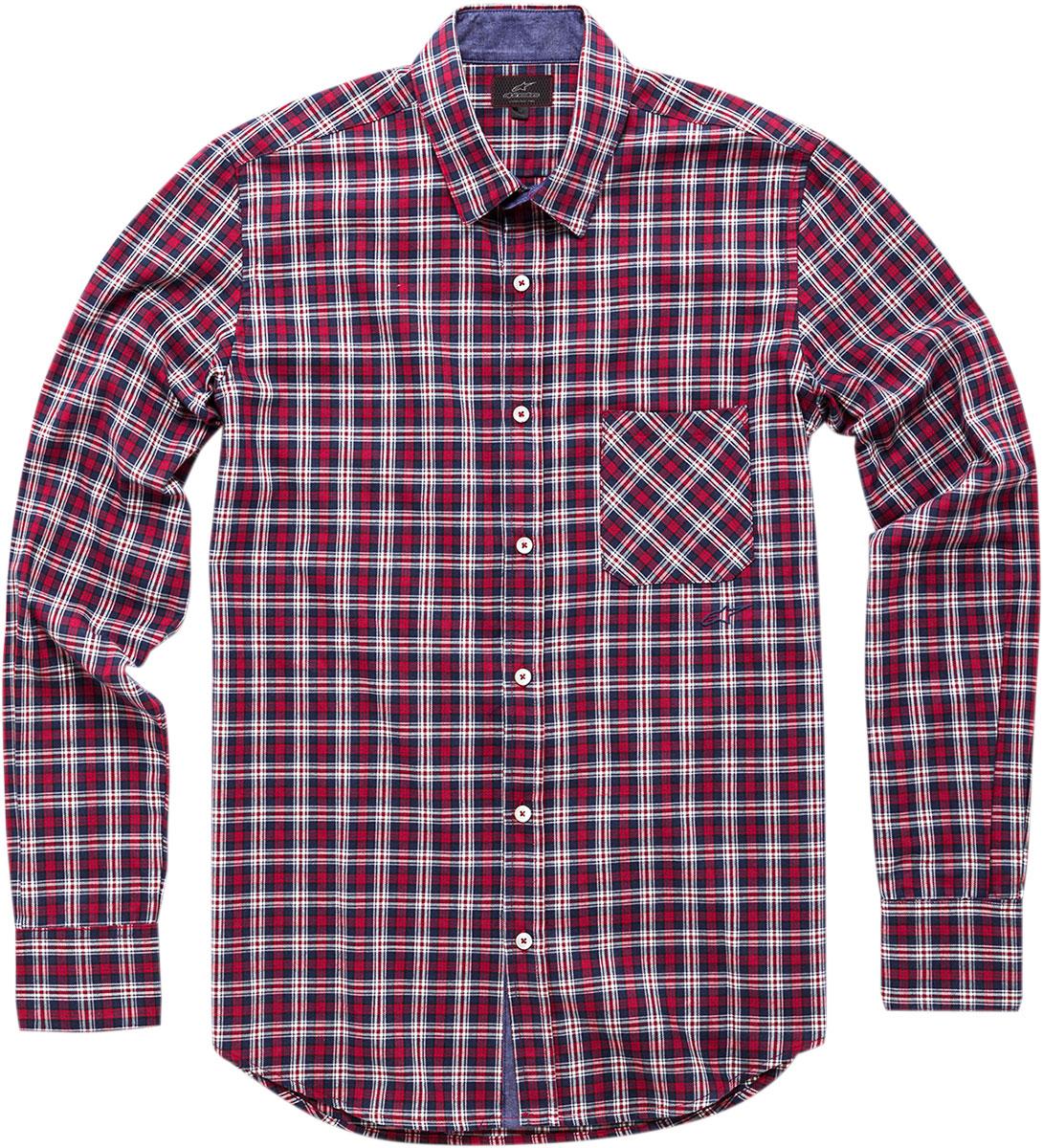 Alpinestars ENDURO Long Sleeve Plaid Shirt (Red)