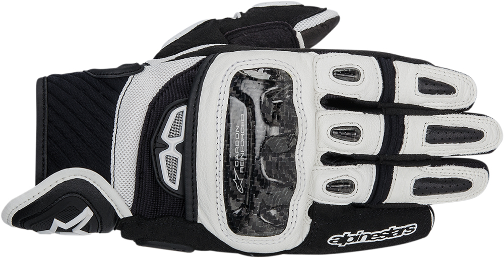 Alpinestars GP Air Textile/Leather Short Cuff Touch Screen Motorcycle Gloves (Black/White)