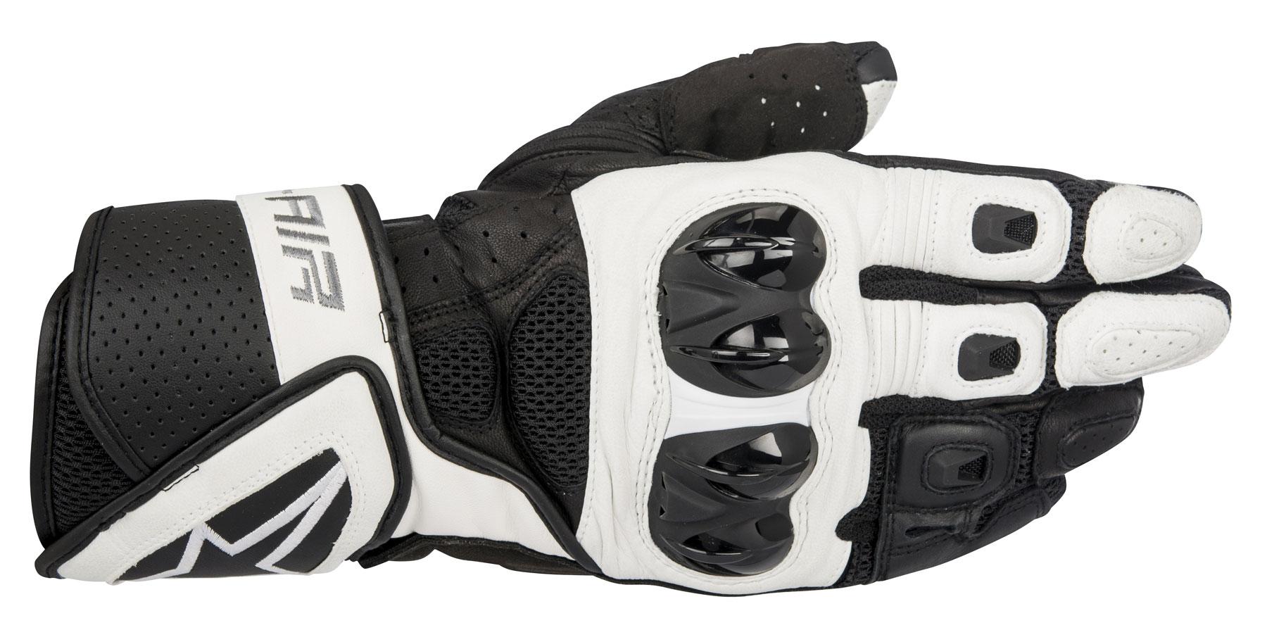 Alpinestars SP AIR Leather/Mesh Gloves (Black/White)