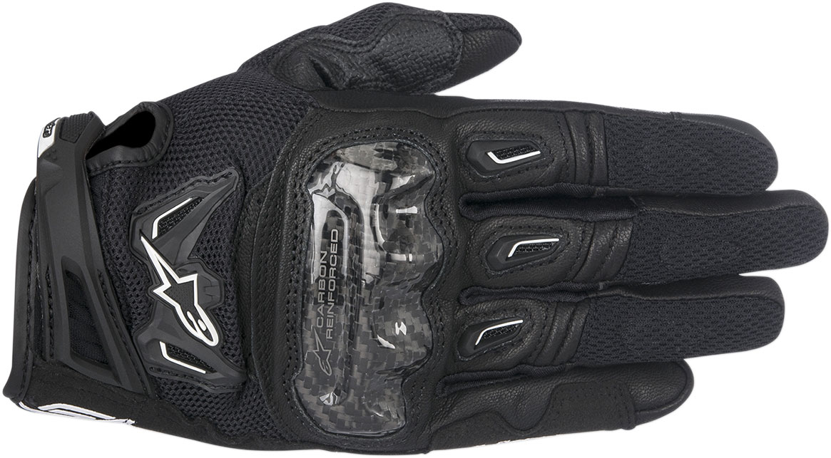 Alpinestars Stella SMX-2 Air Carbon V2 Touchscreen Leather Motorcycle Gloves (Black)
