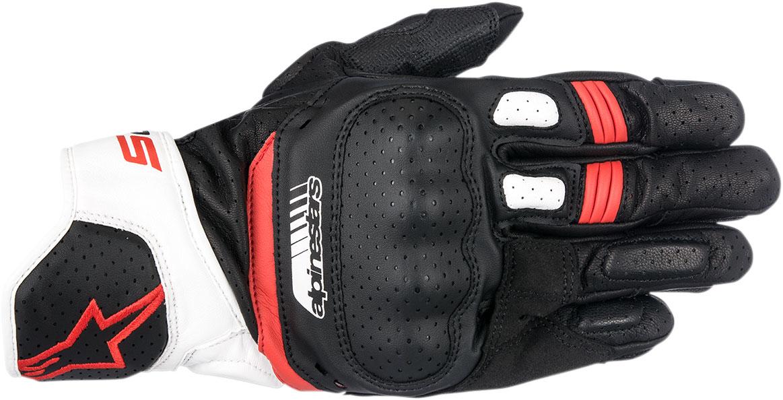 Alpinestars SP-5 Leather Gloves (Black/White/Red)