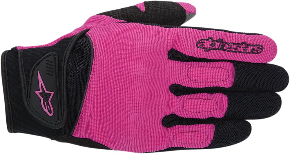 Alpinestars Stella Spartan Textile Short Cuff Motorcycle Gloves (Black/Pink)