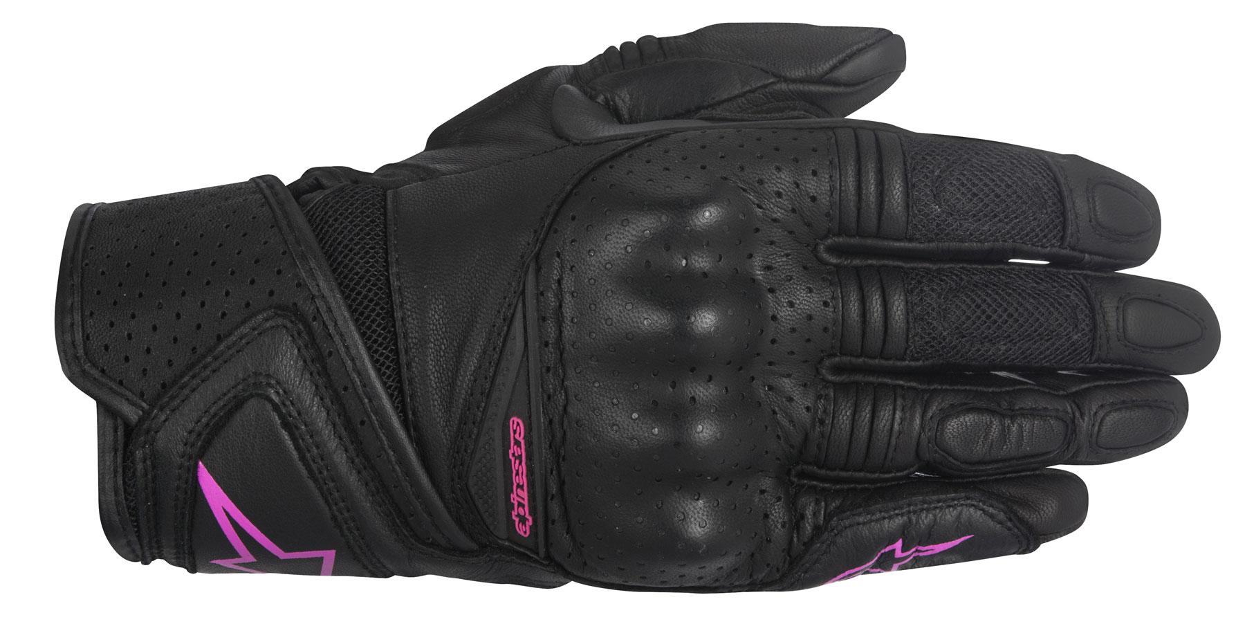 Alpinestars Stella BAIKA Leather/Mesh Gloves (Black/Pink)