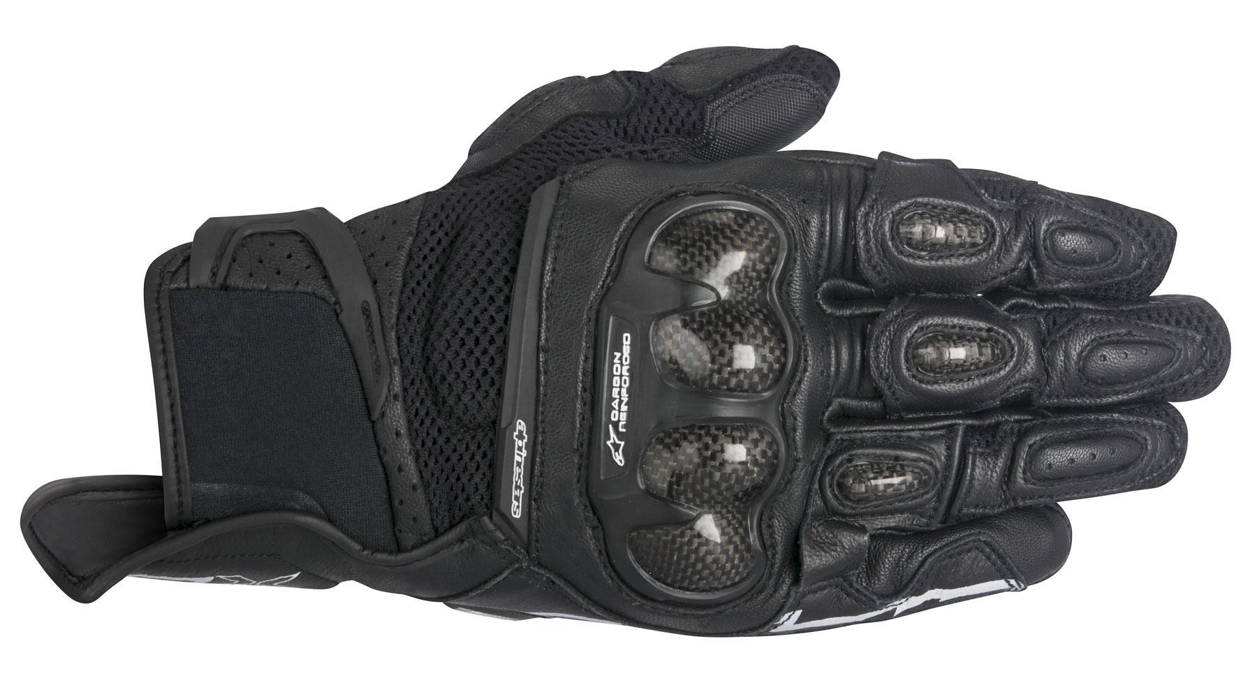 Alpinestars Stella SPX AIR CARBON Leather/Mesh Gloves (Black)