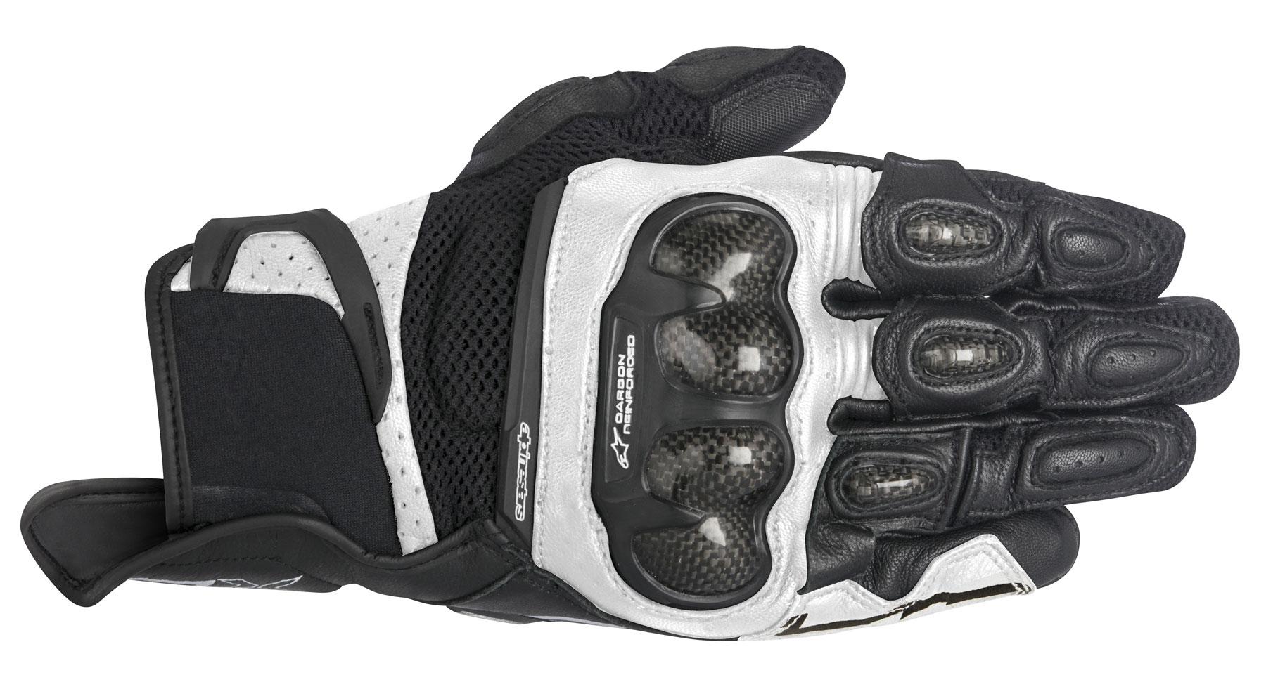 Alpinestars Stella SPX AIR CARBON Leather/Mesh Gloves (Black/White)