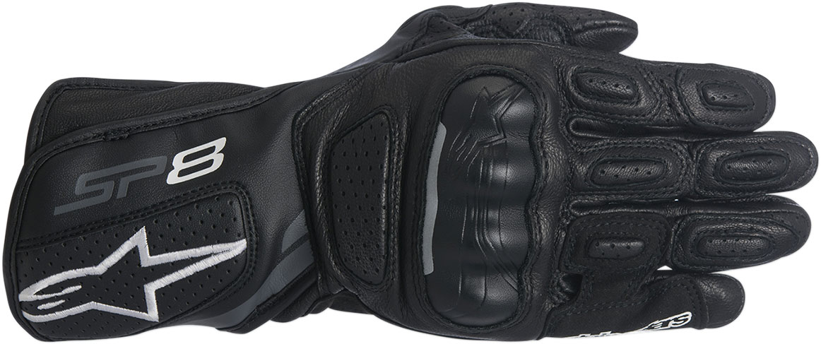 Alpinestars Stella SP-8 V2 Leather Motorcycle Gloves (Black/Grey)