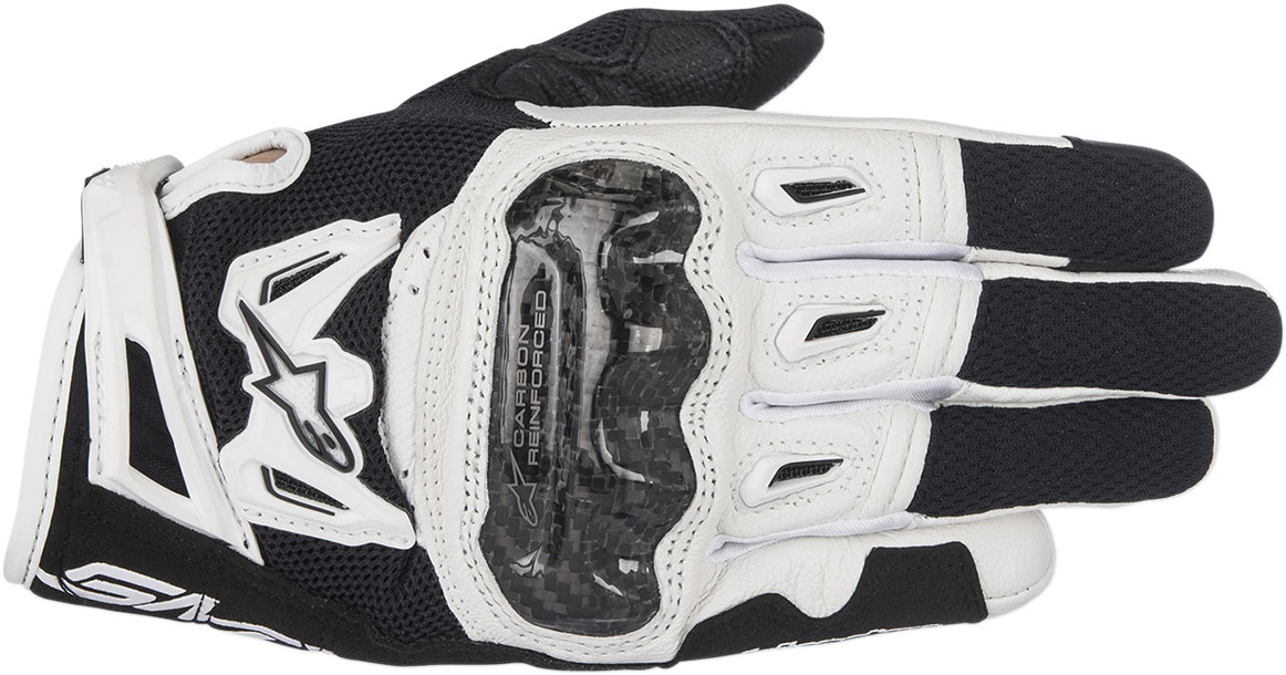 Alpinestars Stella SMX-2 Air Carbon V2 Touchscreen Leather Motorcycle Gloves (Black/White)