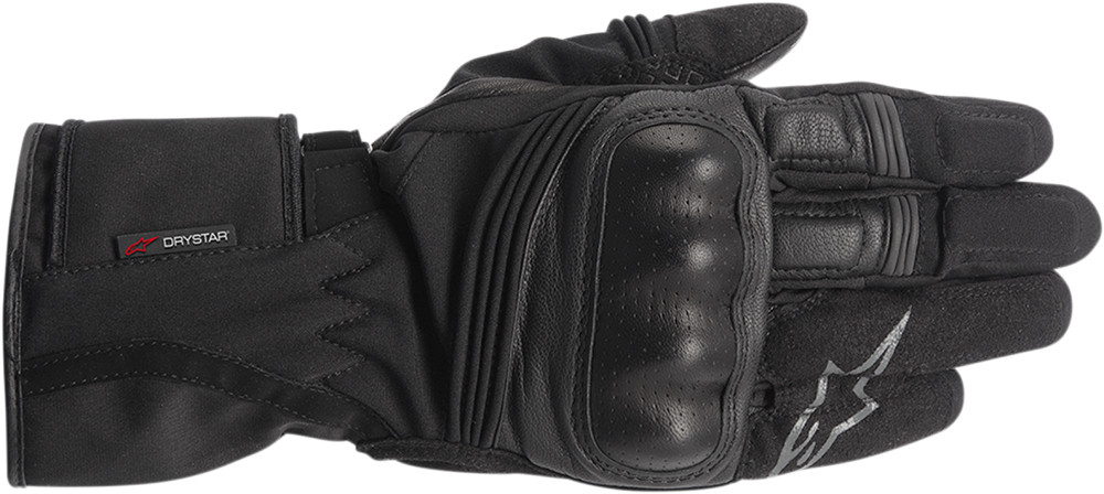 Alpinestars Valparasio Drystar Leather Long Cuff Motorcycle Touring Gloves (Black)