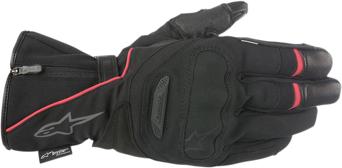 Alpinestars PRIMER Drystar Leather/Textile Gloves (Black/Red)