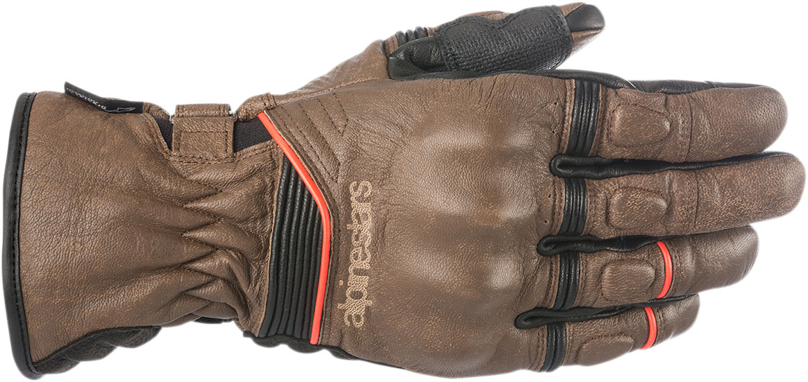 Alpinestars Oscar CAFÉ DIVINE Drystar Leather Gloves (Brown/Black)