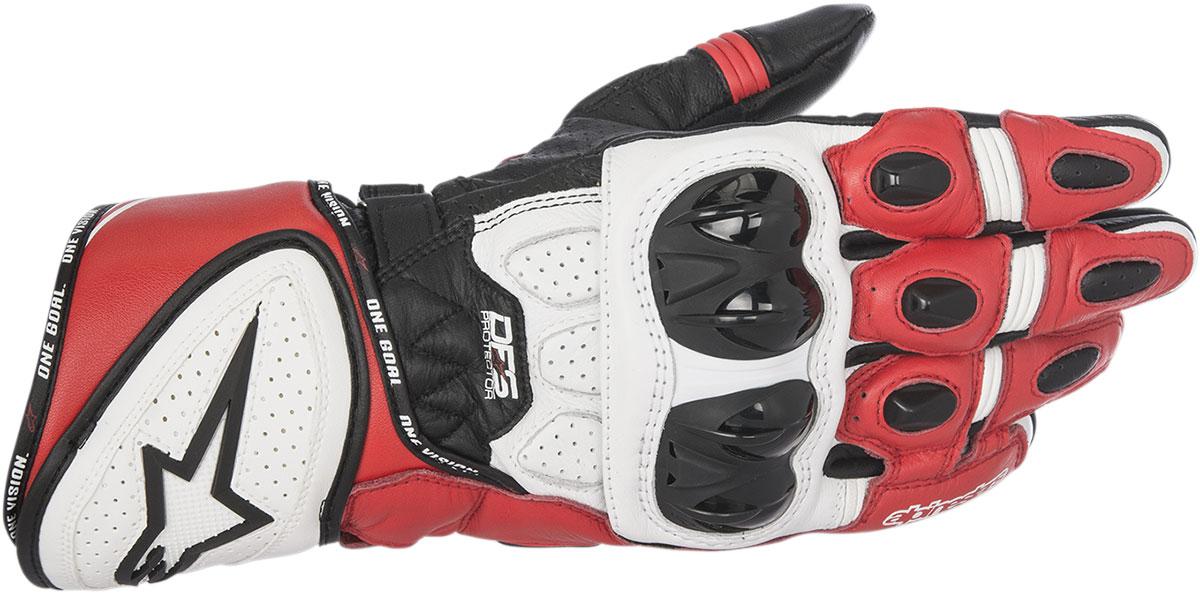 Alpinestars GP PLUS R Leather Gloves (Black/White/Red)