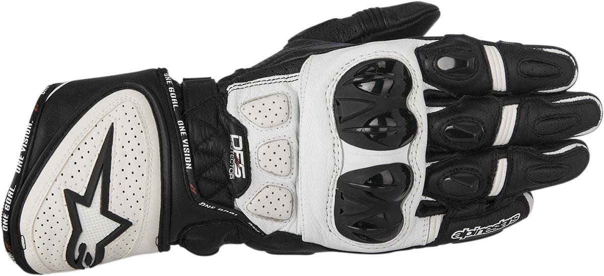 Alpinestars GP PLUS R Leather Gloves (Black/White)