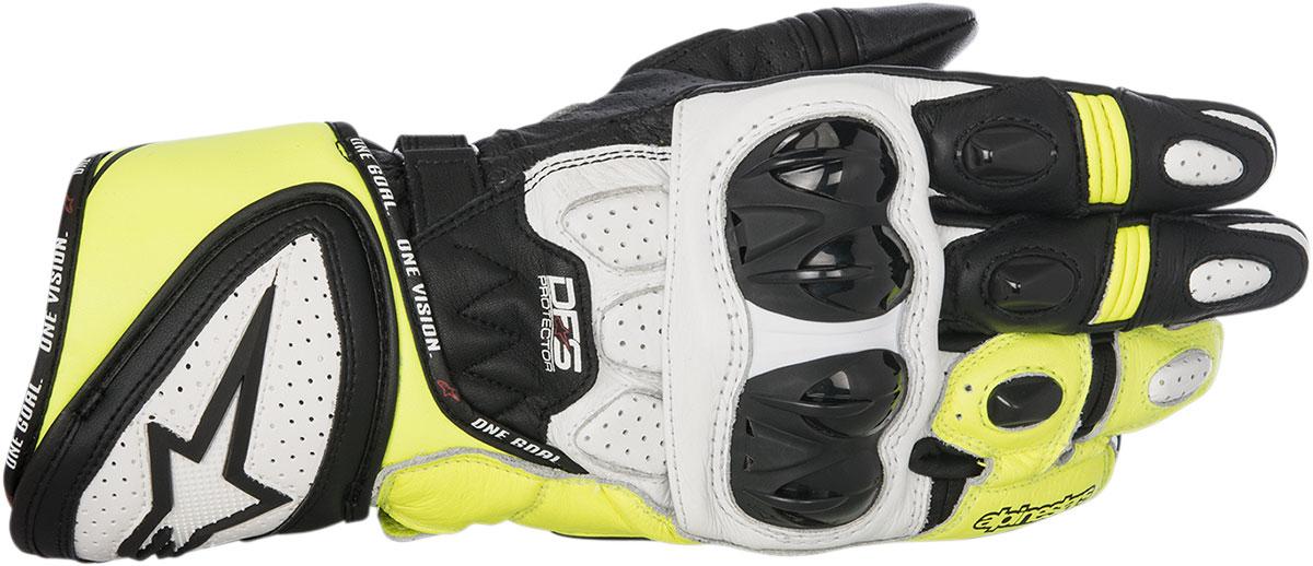 Alpinestars GP PLUS R Leather Gloves (Black/White/Yellow)
