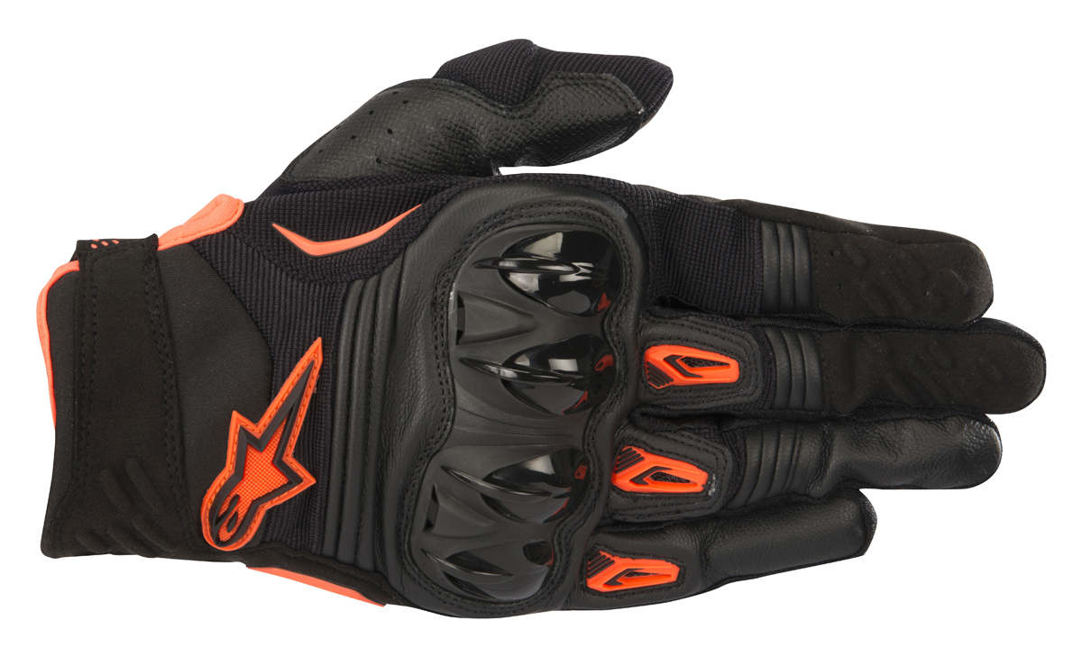 Alpinestars MX/Motocross MEGAWATT Hard-Knuckle Gloves (Black/Orange)