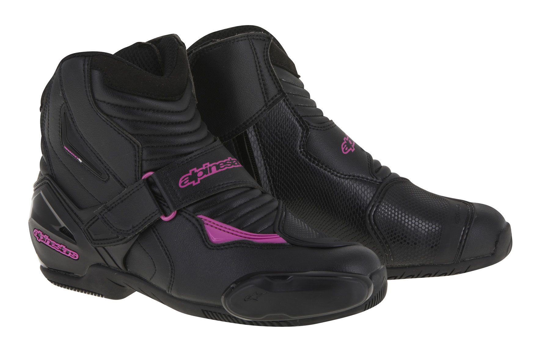 Alpinestars Stella SMX-1 R Low-Cut Boots (Black/Pink)