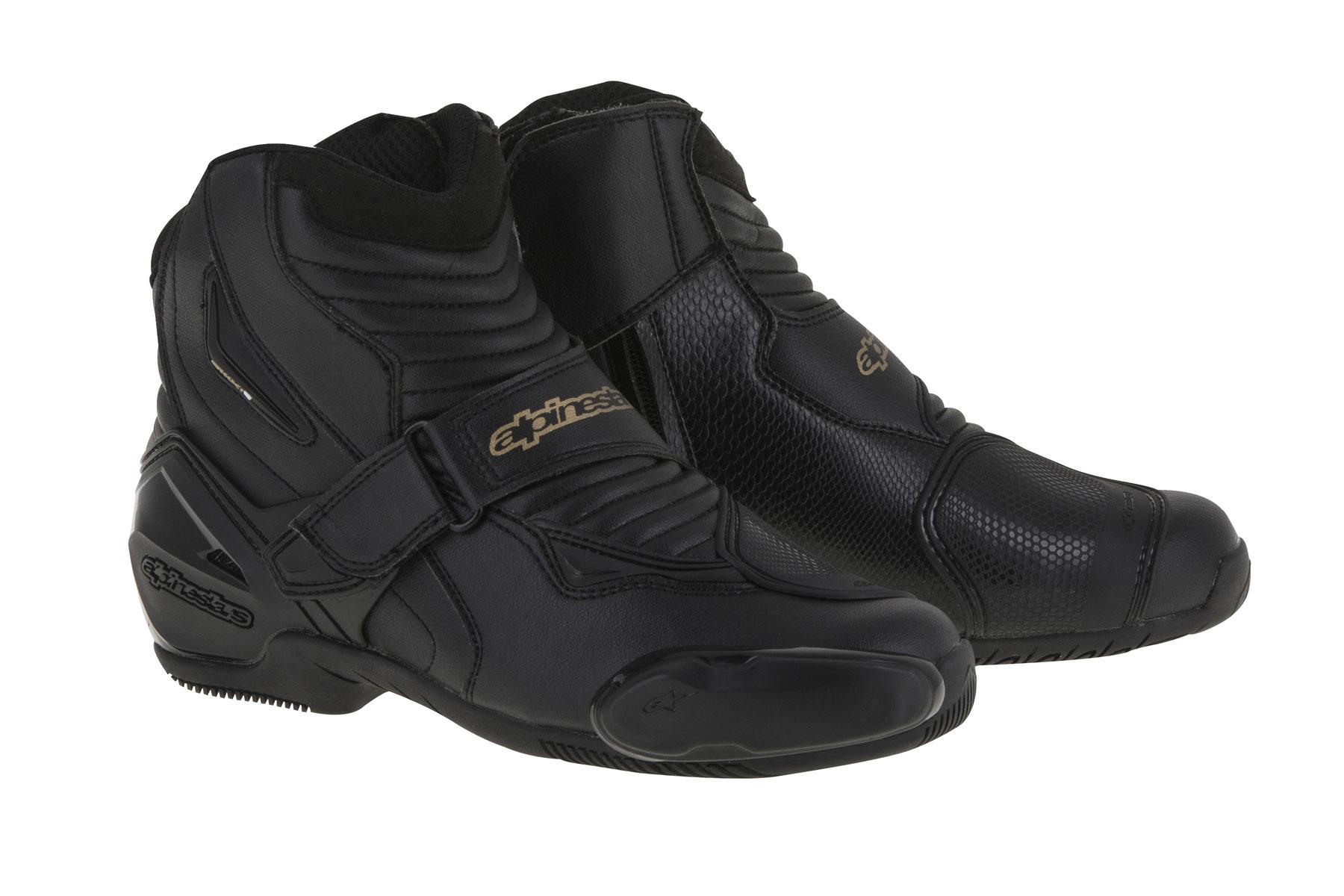 Alpinestars Stella SMX-1 R Low-Cut Boots (Black/Gold)