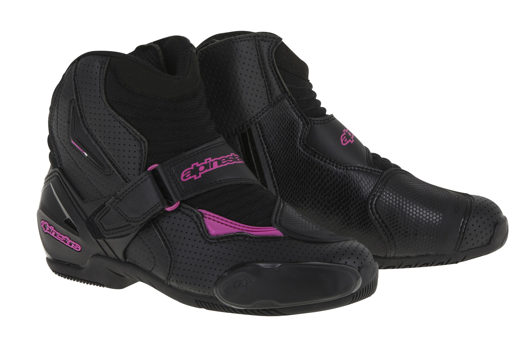Alpinestars Stella SMX-1 R Vented Low-Cut Boots (Black/Pink)