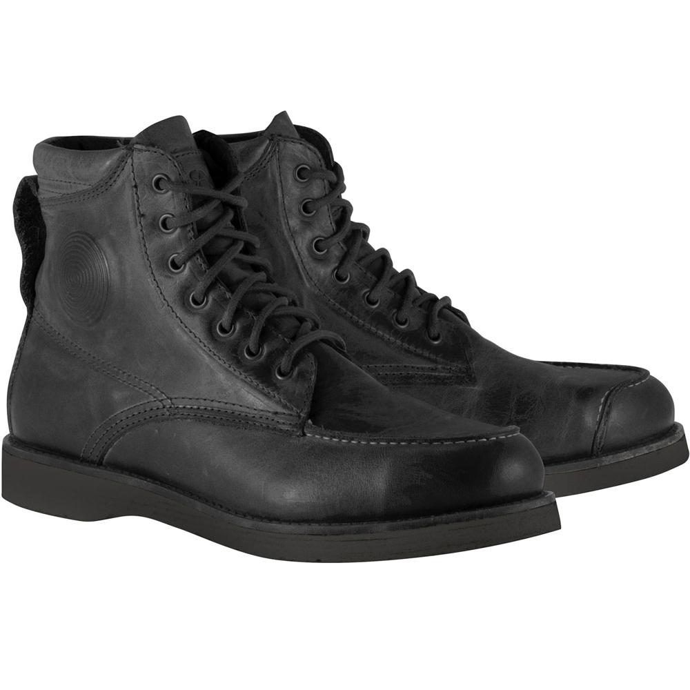 Alpinestars OSCAR MONTY Vintage-Look Leather Motorcycle Boots (Black)
