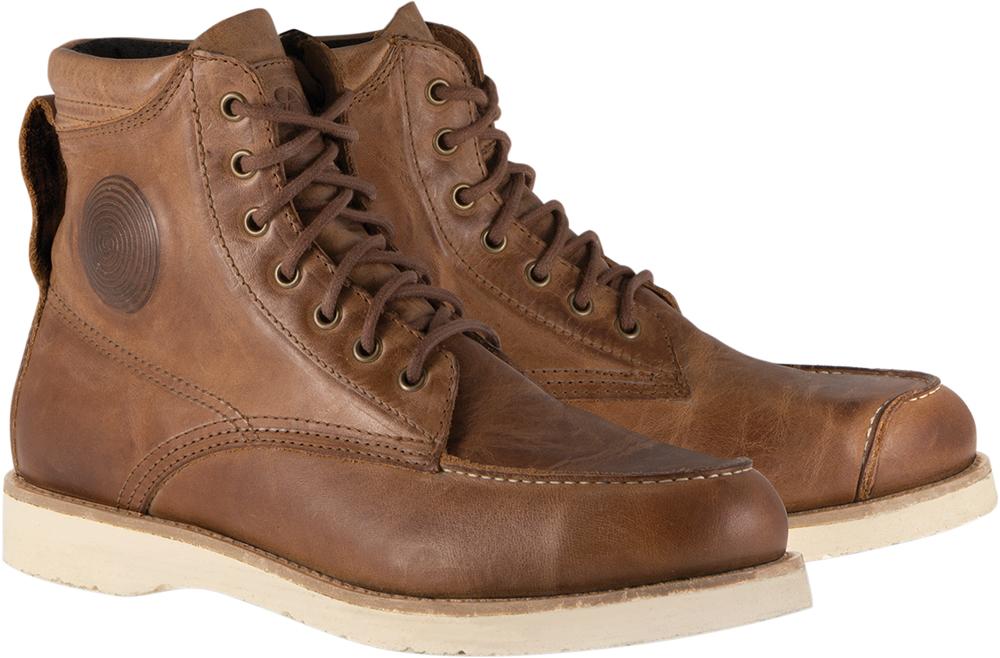 Alpinestars OSCAR MONTY Vintage-Look Leather Motorcycle Boots (Brown)