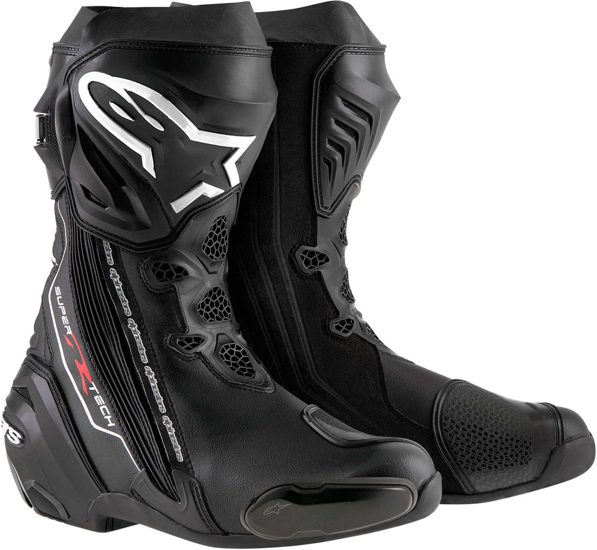 Alpinestars SUPERTECH R Track/Road Racing Motorcycle Boots (Black)