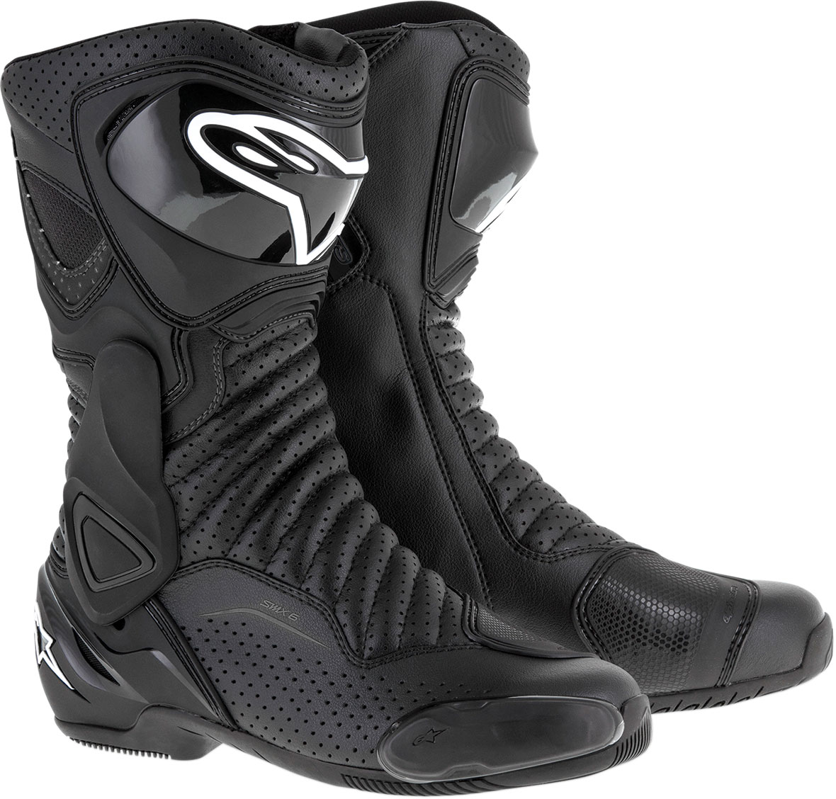 Alpinestars SMX-6 V2 Vented Road/Track Motorcycle Boots (Black)