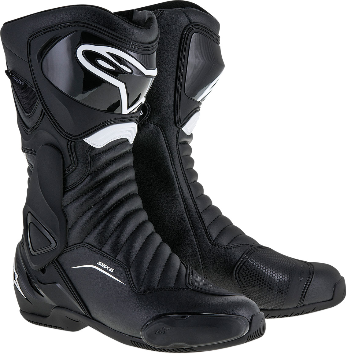 Alpinestars SMX-6 V2 Waterproof Road/Track Motorcycle Boots (Black)