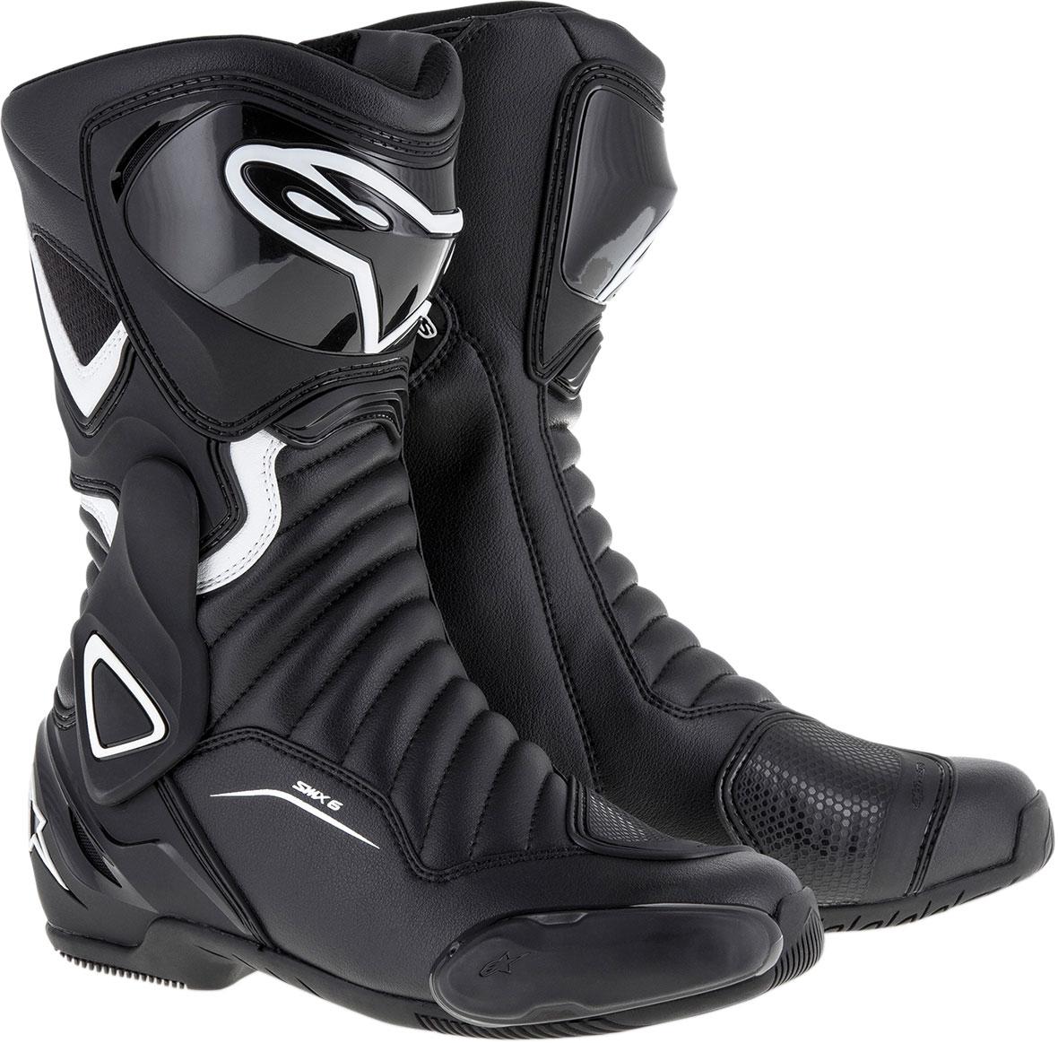 Alpinestars Stella SMX-6 V2 Road/Track Motorcycle Boots (Black/White)