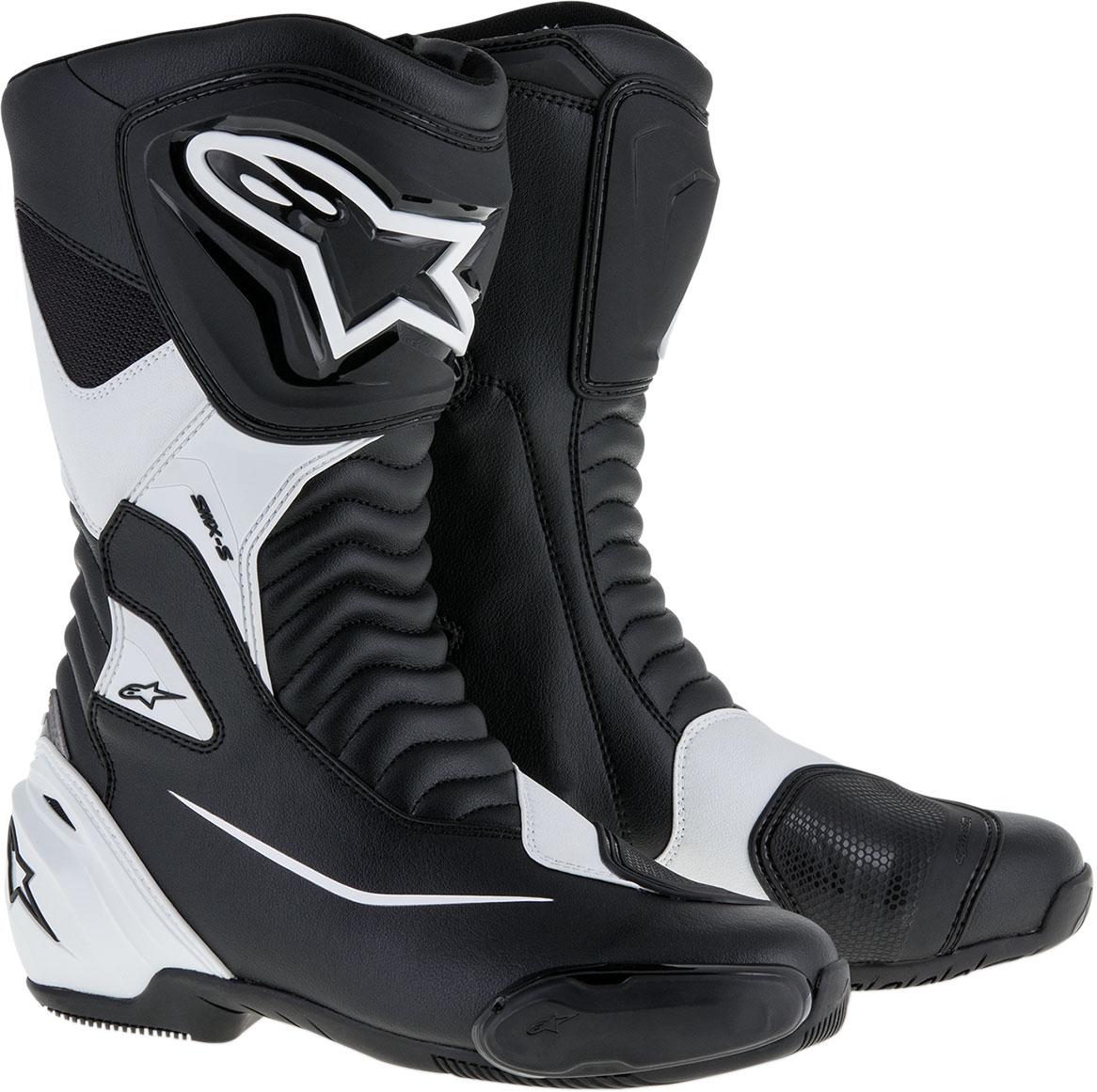 Alpinestars SMX-S Leather Boots (Black/White)