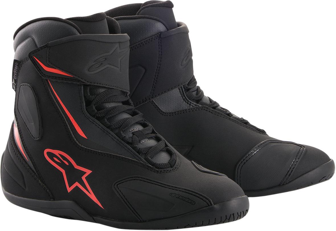 Alpinestars FASTBACK-2 Drystar Leather Shoes (Black/Gray/Red)
