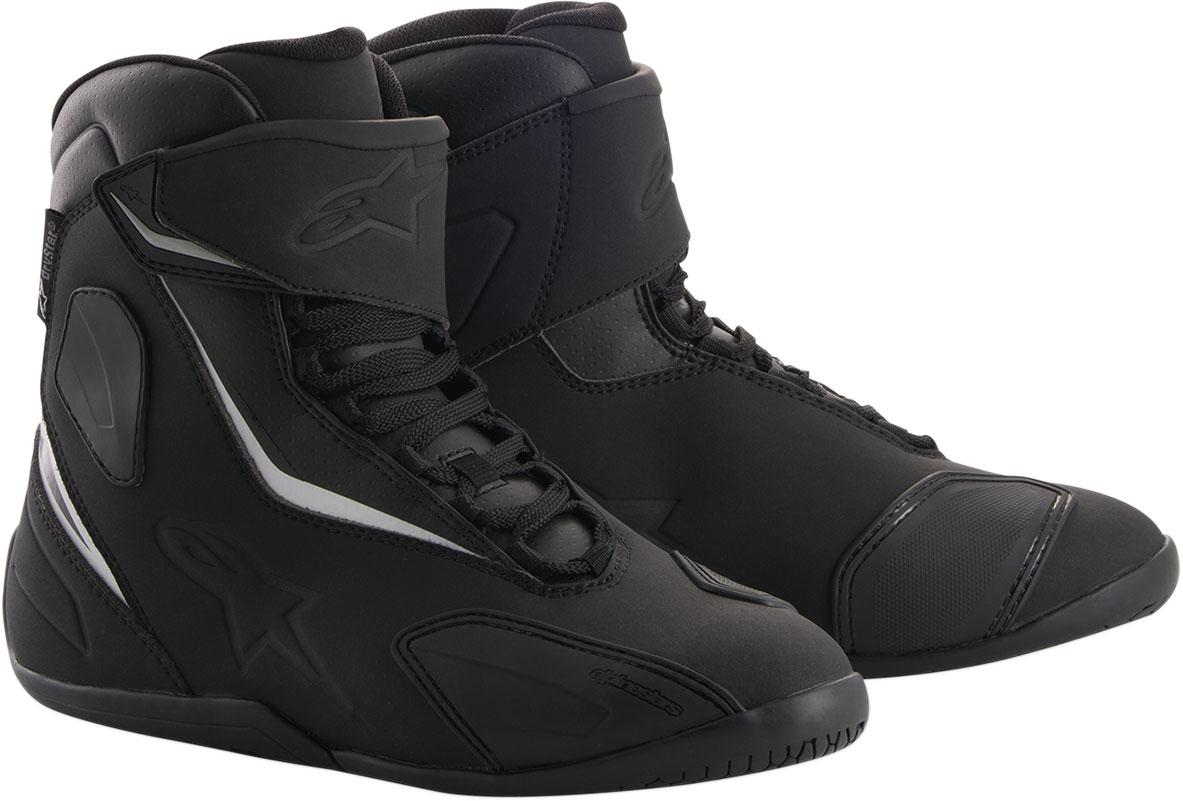 Alpinestars FASTBACK-2 Drystar Leather Shoes (Black/Black)