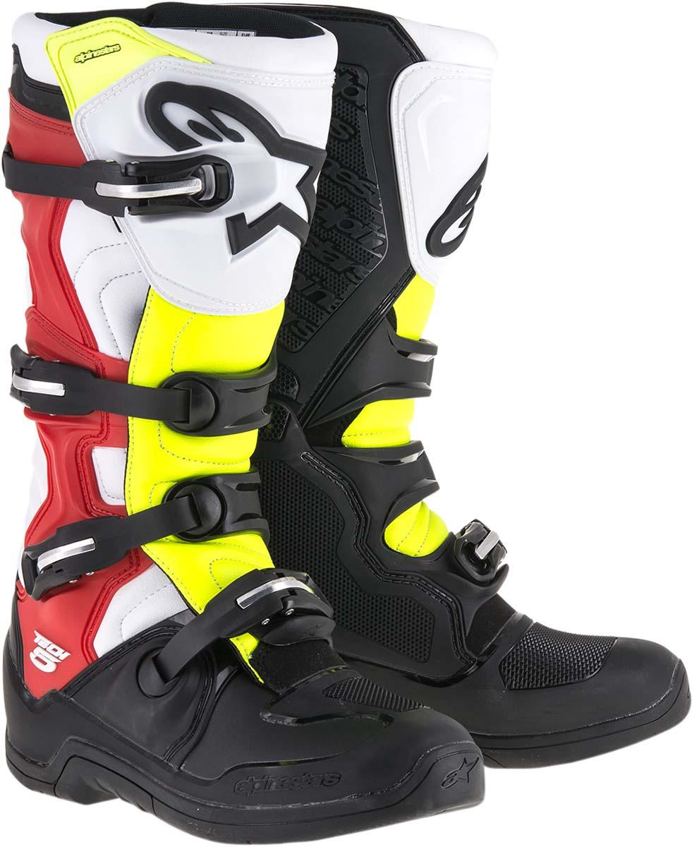 Alpinestars Offroad TECH 5 Boots (Black/Red/Yellow)