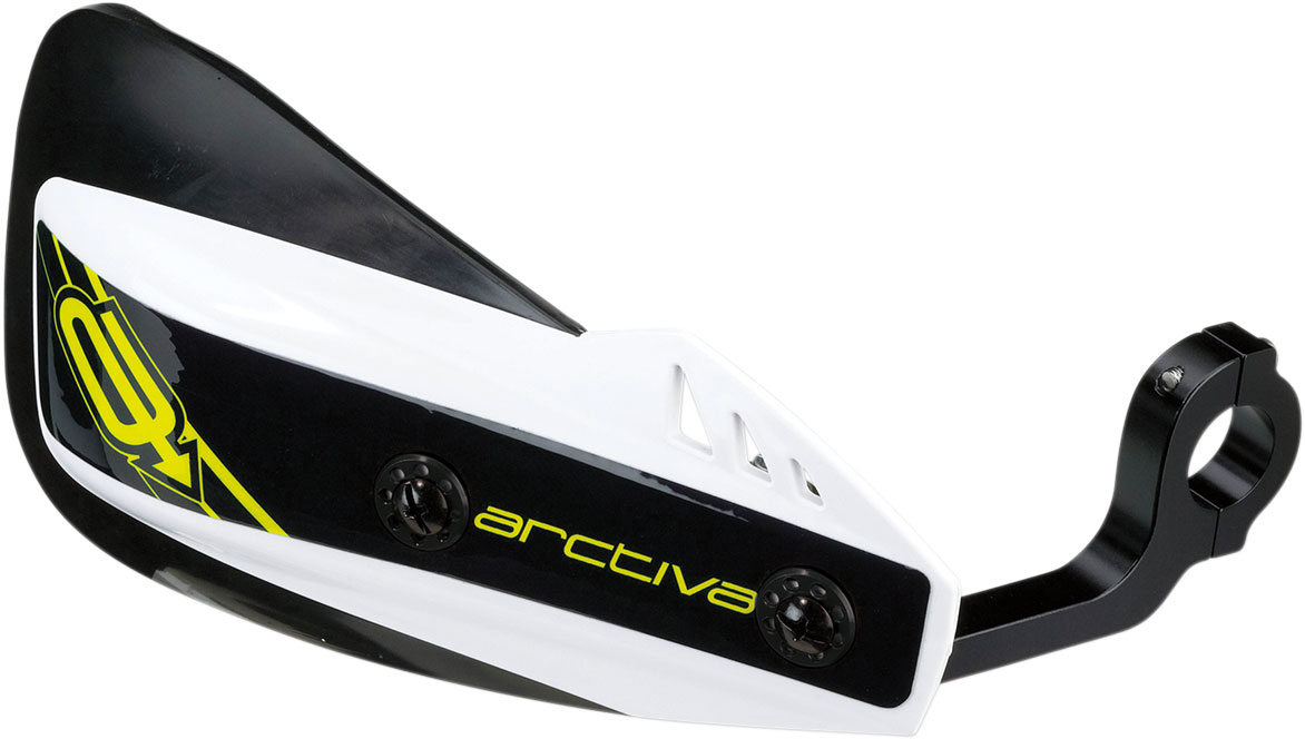 Arctiva Snow Snowmobile REBOUND Handguards (Black/White)