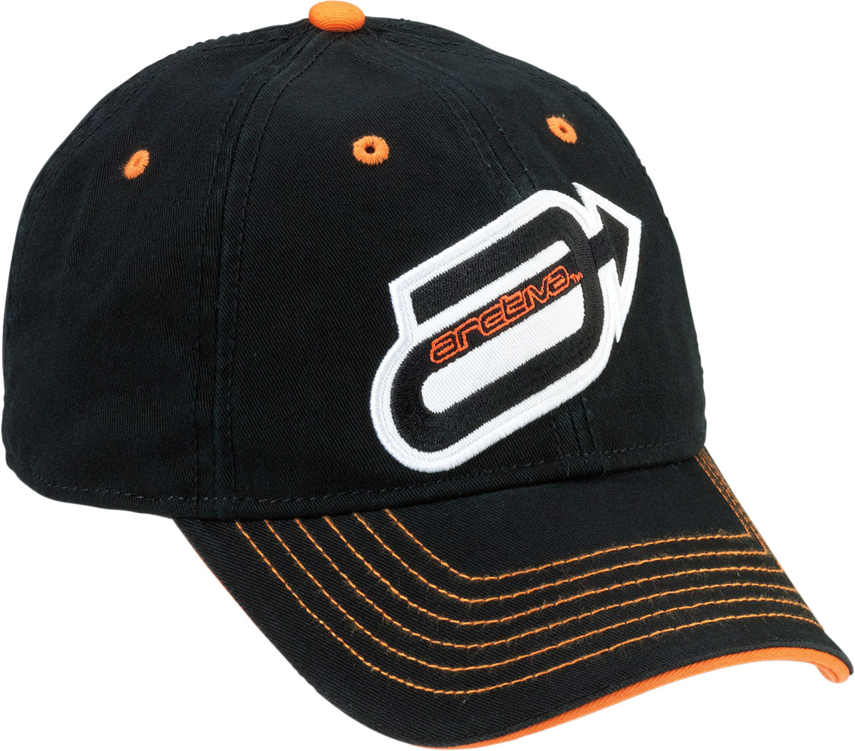 ARCTIVA Snow Snowmobile Full-back Curved Bill Hat/Cap (Black)