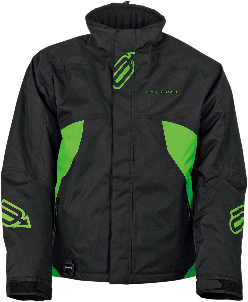 Arctiva Snow Snowmobile PIVOT Insulated Jacket (Black/Green)