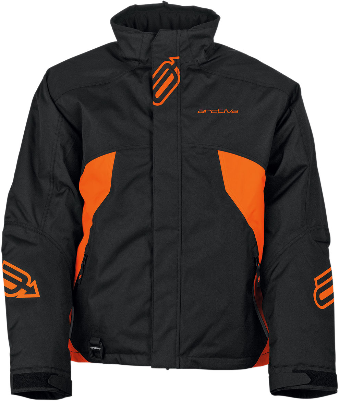 Arctiva Snow Snowmobile PIVOT Insulated Jacket (Black/Orange)