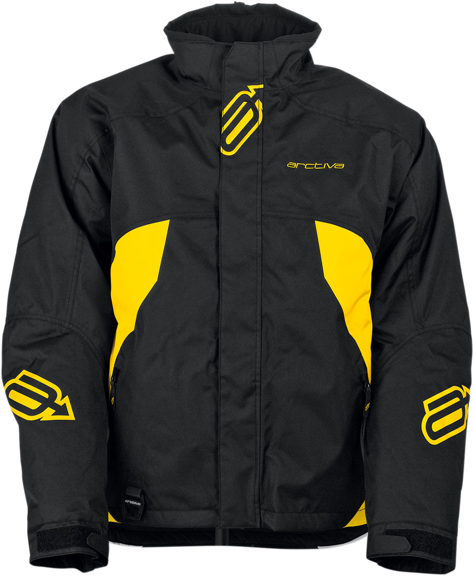 Arctiva Snow Snowmobile PIVOT Insulated Jacket (Black/Yellow)