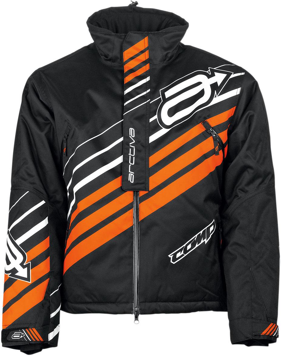 Arctiva Snow Snowmobile COMP Insulated Jacket (Black/Orange)