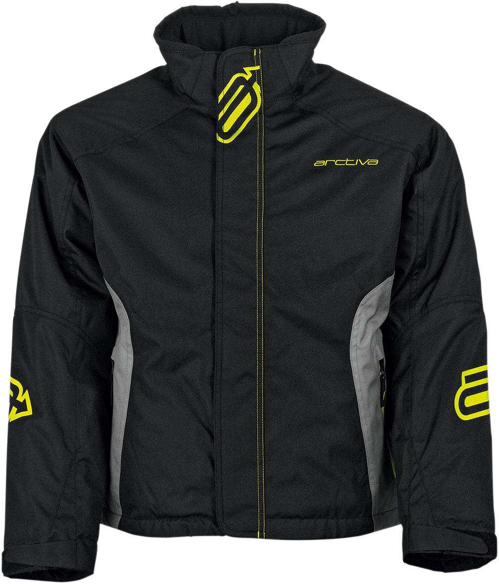 Arctiva Snow Snowmobile PIVOT Insulated Jacket (Black/Grey)